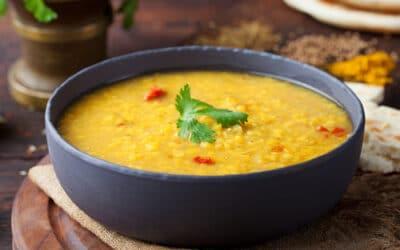 Recette soupe lentilles au curry
